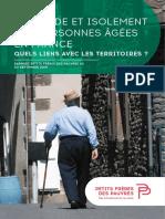 Solitude et isolement des personnes âgées en France