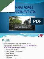 Chennai Forge Products Pvt Ltd Profile