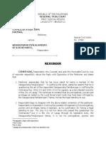 Rejoinder Roger Fariñas vs. Sp