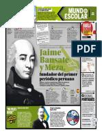 Jaime Bausate y Meza, Fundador Del Primer Periódico Peruano