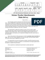 1999 8th Grade Science Teacher Questionnaire