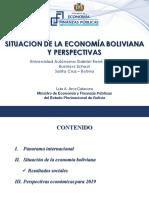 Situación de la Economía Boliviana y Perspectivas