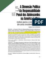 A Dimensão Política Da Responsabilidade Penal Dos Adolescentes Na América Latina