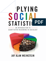 Jay A Weinstein - Applying social statistics _ an introduction to quantitative reasoning in sociology (2010, Rowman _ Littlefield).pdf