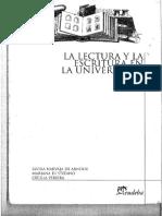 Arnoux y Otros 2004. La Lectura y La Escritura en La Universidad Comprimido