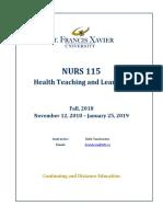 NURS 115 Course Syllabus 201910 DML