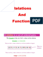 Differential calculus functions and relations