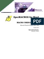 SpecMacros User Manual