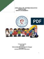 Fundamentacion Legal Del Sistema Educativo Venezolano