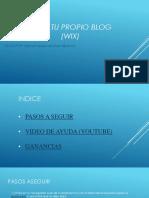 Crea Tu Propio Blog Wix