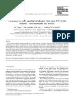 Variaciones de la irradiación espectral solar desde cerca de los rayos UV hasta los infrarrojos. Mediciones y resultados