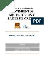 El Futuro de La Socialdemocracia. Movimientos Migratorios y Paises de Origen