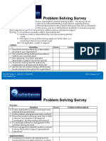 Problem Solving Survey