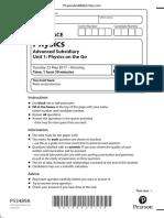 June 2017 QP - Unit 1 Edexcel Physics A-level.pdf