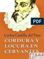 Cordura y Locura en Cervantes - Carlos Castilla Del Pino