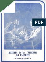 NAENNY Eduardo. Historia de Los Valdenses Del Piamonte. 2da Ed. Buenos Aires. Aces 1986 Watermark