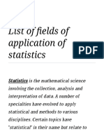 List of fields of application of statistics - Wikipedia.pdf