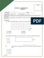Prueba Areas y Perímetros 5 Basico