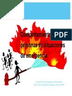 Comportamiento de Las Personas en Situaciones de Emergencia Presentación