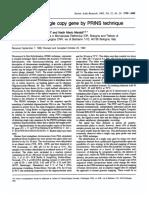 Localization of single copy gene by PRINS technique