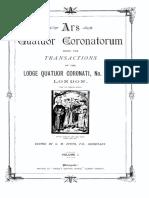 1888 Speth Ars Quatuor Coronatorum v1