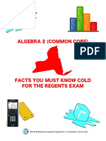 v2 - Algebra II [Common Core] Regents Review Sheet - Facts You Must Know Cold