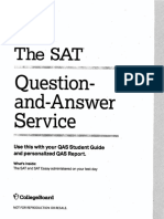 2018 May US SAT QAS With Answers and Scoring