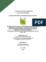 Informe de Practicas para ostentar el titulo de Ing. Mecanico