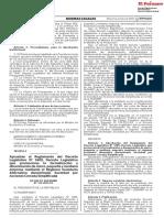 Aprueban El Reglamento Del Decreto Legislativo n 1409 Decr Decreto Supremo n 312 2019 Ef 1812452 3