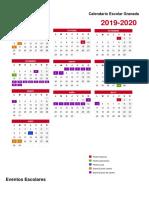 Calendario Escolar Portrait Granada 2019