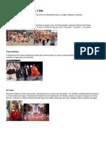Bailes Tipicos de Chile Por Zona