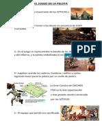 El Juego de La Pelota AZTECA - MAYA