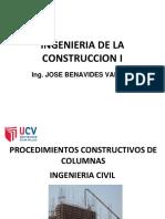 procedimiento constructivo de columnas