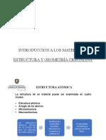 Unidad 2 Estructura y Geometria Cristalina
