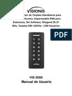 Manual Para VIS-3008