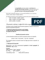 """El presente continuo y reglas del verbo en gerundio """"-ing"""""""