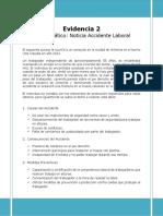 Desarrollo Evidencia 2 - Foro Temático Noticia Accidente Laboral