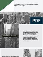 Descentralizacion, Democracia Local y Proceso de Paz en Colombia (Cesar Vallejo)