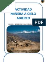 Actividad Minera a Cielo Abierto (Final)