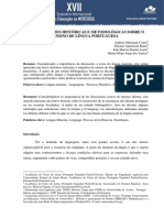 Consideracoes Historicas e Metodologicas Sobre o Ensino de Lingua Portuguesa