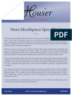 Horn Mouthpieces