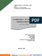 Planific. Secuencia Didactica 1009