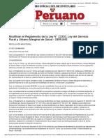 El Peruano - Modifican el Reglamento de la Ley N° 23330, Ley del Servicio Rural y Urbano Marginal de Salud - SERUMS - RESOLUCION MINISTERIAL - N° 047-2018_MINSA - PODER EJECUTIVO - SALUD.pdf