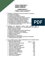 LABORATORIO 1 Conceptos Básicos de Costos UNAB