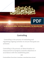 Controlling Function