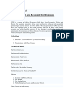 Global Eco-Political Environment Outline