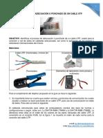 Proceso de Adecuación o Ponchado de Un Cable Utp Para Uso de Conexión Entre Ordenadores