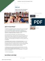 Aprendizaje_ Concepto, Tipos de Aprendizaje y Teorías