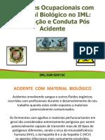 Riscos ocupacionais com material Biologico no IML