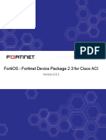 FortiOS 6.0.3 Fortinet Device Package 2.3 for Cisco ACI